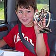 Sean and his trophy for T-Ball